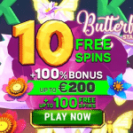 10 No Deposit Free Spins on Butterfly Staxx - Exclusive Bonus from Argo Casino