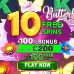 10 No Deposit Free Spins on Butterfly Staxx - Exclusive Bonus from Argo Casino