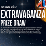 Cosmic Spins in May: Extravaganza Prize Draw