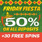 50% on all deposits + 30 FS from Double Up