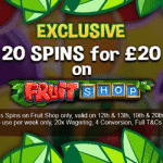 20 Spins: Exclusively at Fortune Mobile Casino
