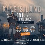 King Billy Exclusive: 151% Bonus + 51 Free Spins