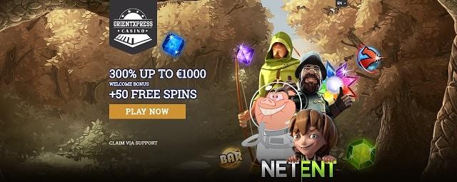 OrientXpress Casino welcome bonus