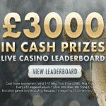 Live Casino Leaderboard: £3,000 from Reel Vegas