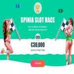 Spinia Slot Races: €30,000 Monthly Prize Fund