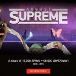 €6K + 15000 Spins: August Supreme at WildSlots